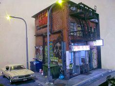 fabiano fausto miniaturas: Taxi Driver - Escala 1/25 Train Miniature, Miniature Houses, Building Art, Model Building, Cyberpunk City, Wargaming Terrain, 3d Home, Tiny World, Environment Concept Art
