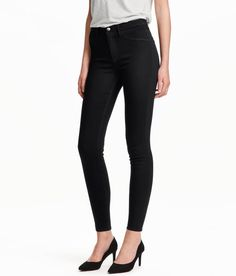 Skinny High Ankle Jeans   Zwart   Ladies   H&M NL