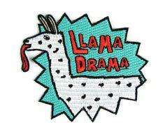 #Llama Drama Iron On #Patch