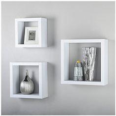 Repisa cubo small blanco-Sodimac.com