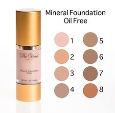 Da Vinci Mineral Liquid foundation 6-in-1 (Anti-Aging, Mineral, Liquid, SPF –15, Aloe Vera Leaf Extract and Foundation) created especially for our customer that love liquid foundation. Its combination of mineral loose powder and Aloe Vera leaf extract.