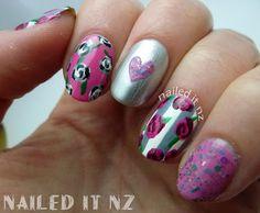 Nailed It NZ: Shaaanxo inspired nail art! Pink Roses ♥ http://nailedit1.blogspot.co.nz/2013/01/shaaanxo-inspired-nail-art-pink-roses.html