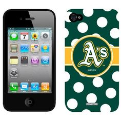 Amazon.com: Oakland Athletics - Polka Dots design on iPhone 4 / 4S Slider Case by Coveroo: Cell Phones & Accessories