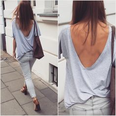 Busy Day ✌️✌️ ALL GREY EVERYTHING ☀️ #simple #style #sexy #outfitoftheday #ootd #girl #grey #tshirt #lessismore #new #warsaw #poland #workit #backless