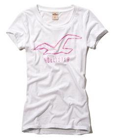808752dcfc Camiseta Hollister Feminina SANTA MONICA SHINE - Branca - FigoVerde.com.br Camiseta  Hollister