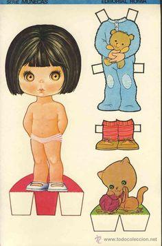 Coleccion completa 10 recortables muñecas EXTRA RECORTE Ed.Roma. Doble hoja cartulina (v.fotos adic)