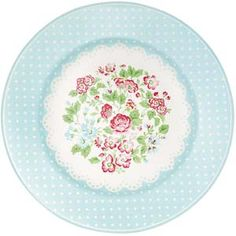 GreenGate Side Plate in Amelie White - .