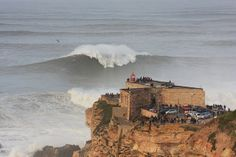 Zon North Canyon Jan 2014 with Garrett McNamara and Andrew Cotton at Nazaré, Portugal
