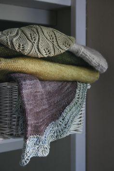 beautiful knit shawls...