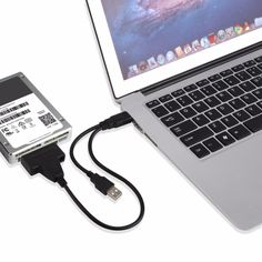 #AliExpress 2017 New Portable Size Dual USB To SATA Line USB2.0 Data and Power Cable Adapter (32707194286) #SuperDeals