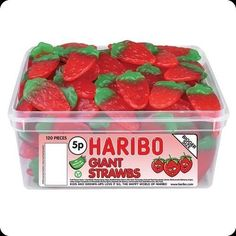 Haribo Giant straws - 120 Count are another one of Haribo's finest retro sweets.That are supplied by Haribo.These soft jelly foam candy sweets come in a of a shape of gaint strawberries and with a really delicious strawberry flavouring taste. Haribo Candy, Haribo Sweets, Kids Party Treats, Party Bag Sweets, Party Favours, Birthday Favors, Wedding Favours, Giant Strawberry, Strawberry Sweets