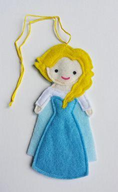 Frozen Elsa Disney Princess Felt Air Freshener / by CloudKids, $8.99