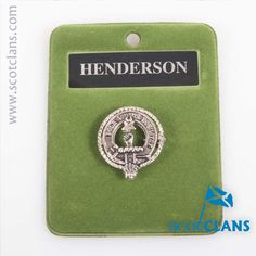 Henderson Clan Crest Badge. Free worldwide shipping available