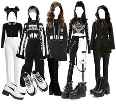 black and white Outfit | ShopLook Grunge Outfits, Kpop Outfits, Dance Outfits, Outfit Maker, White Outfits, Black Boots, Black Hair, Polyvore, Faith