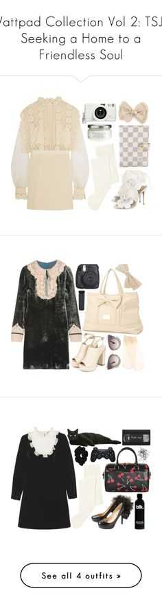 """""""Wattpad Collection Vol 2: TSJ - Seeking a Home to a Friendless Soul"""" by natjulieta on Polyvore featuring moda, Valentino, self-portrait, John Lewis, Louis Vuitton, Lomography, Davines, Inspired, ootd y hime"""