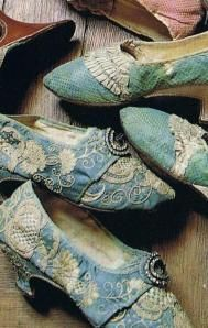 Gorgeous French 17th century shoes!!!  Do you suppose that Marie's are in there?