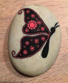 Pintura de piedra Mariposa