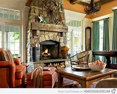 15 Homey Rustic Living Room Designs | Home Design Lover