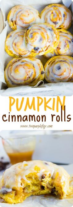 Pumpkin Cinnamon Rolls recipe is pure pumpkin meets cinnamon rolls love! Dressed…