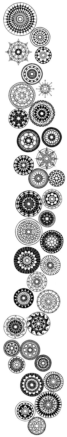 I like the curve of this design. Quilted rows of these circles would be really pretty.