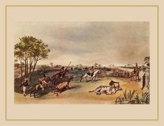 Peões gaúchos e uma boiada sendo levada  Jean-Baptiste Debret, Viagem Pitoresca e Histórica ao Brasil.   Índio da tribo dos charruas, que ocupavam a região dos pampas e domaram os cavalos largados por europeus; abaixo, peões gaúchos e uma boiada sendo levada.  Em 1792, José Batista de Carvalho percorreu o caminho e venceu os obstáculos. Construiu um rancho entre os arroios Grande e do Chasqueiro, numa sesmaria de 4 mil hectares que recebeu do rei.