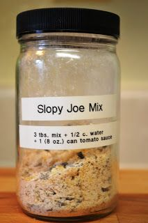 Make Your Own - Sloppy Joe Mix