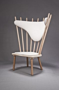 Sticks is an armchairby young Danish designer Celina Rolmar. She drew her inspiration from the old windsor chair construction.