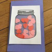 The Shaker Card Voici un petit article pour vous expliquer comment réaliser cette jolie carte MATERIEL  - du papier blanc épais - un cutter - des feuilles à plastifier - du papier de couleur...