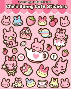 Chirii Bunny Cafe Stickers by *MoogleGurl on deviantART
