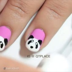 Nail DIY tutorial. By @qtplace  #nailideas #nail #nailart #nailpolish #nailhowto #nailtutorial #nailartdesign #naildiy #tutorial #tutorials #instructions #instruction #panda #nailartjunkie #animals #diyproject #doityourself #idea #ideas #nailpictorial #nailarts #cutepolish #nailartwow #nailartaddict #tutoriales #diyfashion #diynails #manicure #stepbystep #pictorial