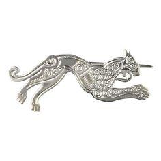 Irish Silver - Celtic Hound Brooch $106.53