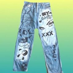 Hand painted vinatge levis style 1  pm me your size after purchase