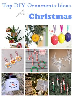 Top DIY Ornaments Ideas for this Christmas1.      DIY Antler Ornaments    2.    Dried Citrus Ornaments  3.   Egg Ornament Tutorial: Sprinkle Eggs  4.   DIY Emoji Christmas Ornaments  5.   DIY Bead & Pipe Cleaner Christmas Ornaments  6.  Snowflake Ballerinas  7.   Easy Snowman Ornaments for Christmas 8.   Star Ornament  9.   DIY Popsicle Stick Christmas Ornaments