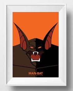 Batman The Animated Series Man-Bat Poster Print Superhero Kids Wall Art Decor Nursery Cartoon Superheroes Super Hero Villain Rogues Gallery