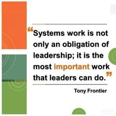 Tony Frontier on systems and leadership in schools