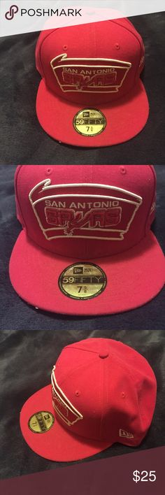 San Antonio Spurs Hat Size 60.6 cm fitted hat Salmon pink color  Good condition Price negotiable New Era Accessories Hats