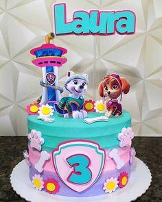 Girls Paw Patrol Cake, Bolo Do Paw Patrol, Skye Paw Patrol Cake, Sky Paw Patrol, Torta Paw Patrol, Paw Patrol Birthday Girl, Paw Patrol Cupcakes, Paw Patrol Cake Toppers, Girl Paw Patrol Party