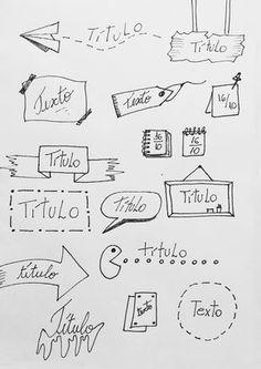 Títulos e banners para decorar cadernos e bullet journal Bullet Journal School, Bullet Journal Décoration, Bullet Journal Headers, Bullet Journal Aesthetic, Bullet Journal Ideas Pages, Bullet Journal Inspiration, Journal Fonts, Sketch Notes, Lettering Tutorial