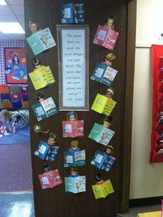 Dr. Seuss classrooms   Dr. Seuss classroom door