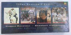 Norman Rockwell Jigsaw Puzzle Art Baseball Collection Panoramic 750 Pcs USA NEW #BuffaloGames