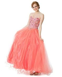 dea48e7ab69 coral corset trendy Cute coral beaded corset ball gown formal prom  homecoming dresses under  200 dollars
