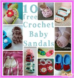 Crochet Baby Sandals - 10 free patterns!