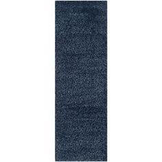 Safavieh California Shag Navy Rectangular Indoor Machine-Made Runner S