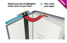 Stifthalter und Lesebändchen in einem #penholder
