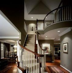 patrón interior de escalera y sala  Decorating: Interior Design Pictures