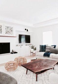 all white cozy and modern living room ideas #homedecor