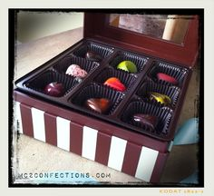 18 pieces of artisan chocolate truffle heaven by MC² Confections, Leesburg, Virginia