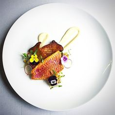 Recipe by EddieHuynh   Red mullet, Parmesan purée, King oyster mushroom, char-grilled corn, shallot and chilli salad.   Cookniche, linking the culinary world