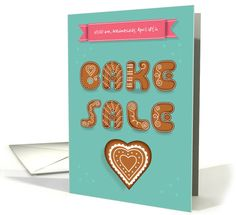 Invitation to a Bake Sale. Cookies font and Heart. Custom... (1480966)