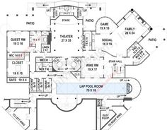 Balmoral House Plan -basement